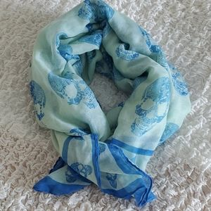 Accessories - Blue candy akull scarf